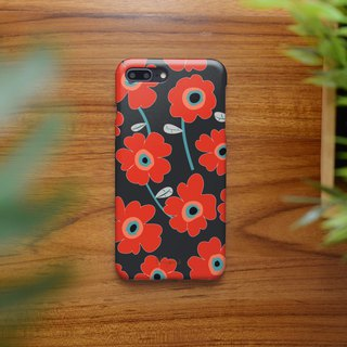 iphone case red pattern flowers for iphone5s,6s,6s plus, 7,7+, 8, 8+,iphone x