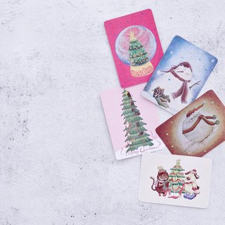 Christmas card / postcard package (5 different models with envelope)
