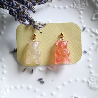 Bear soft candy ear earrings (can be folder type)