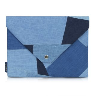 Zhuo also blue dyed - falling English series clutch