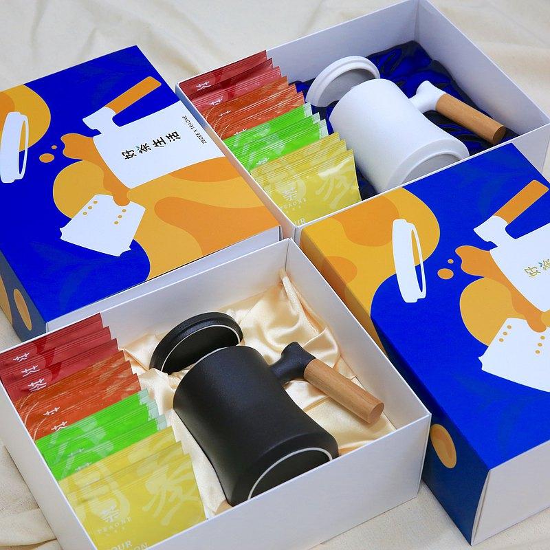 【TeaOne x 哲選 I 好茶生活禮盒】送禮、企業拜訪(馬克杯+4款茶)