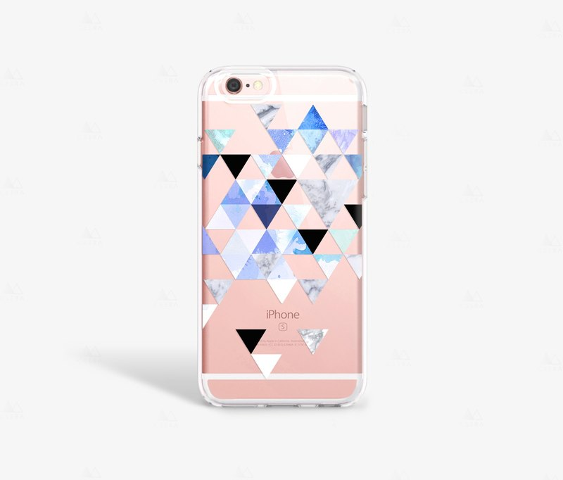 outlet store f0d97 91cc1 Blue iPhone Case Geometric Pattern iPhone 6S Case Cool iPhone Cases