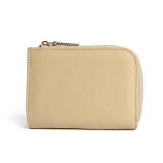 韓國Socharming-Tidy Leather Wallet-Beige