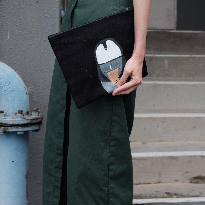 企鵝泡泡茶布手提包