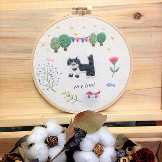 Hand Embroidery Ornaments - Secret garden with whiskers