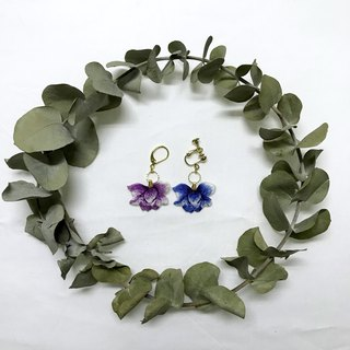 Mystery flower hand embroidery earrings