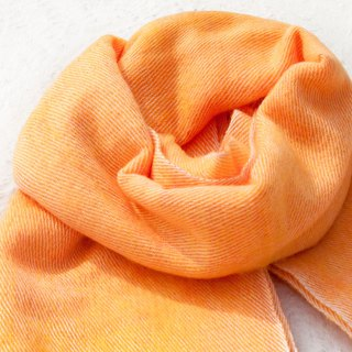 Wool shawl/knit scarf/knit shawl/covering/pure wool scarf/wool shawl-papaya milk