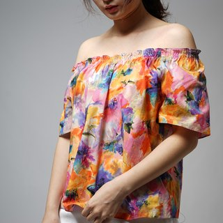 MIT Spring Flower Strapless Top (R5013A)