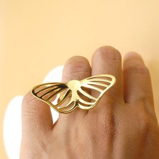 Handmade Butterfly Ring - 18K gold plated on brass, Animal Jewelry,birthday gift
