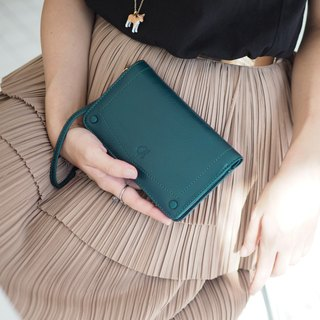 Kylie wallet : wallet, Leather wallet, Green wallet, Genuine wallet