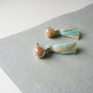*coucoubird*retro party glass tassel earrings