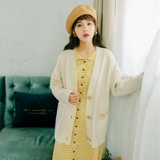 2018 autumn women's new solid color knitted jacket