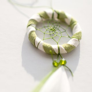 Dream Catcher Kit Mini Edition 5cm (with instructional film) - Summer Solstice Green (two-tone)