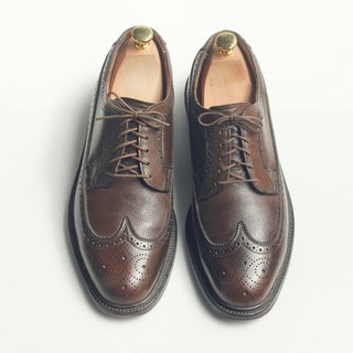 70s American carved wing pattern Bulvxieer shoes | Stuart Holmes Presidents Wingtip Blucher US 9.5D EUR 43