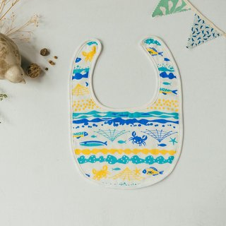 Baby Bib / Fish / Yellow, Blue
