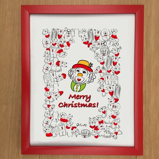 Q Family Merry Christmas 10 吋 Photo Frame - Red