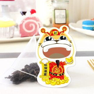 Cat tea tea 喵 Fortune defensive tea bag Japanese-style cute handmade cat modeling tea bag creative wedding birthday gift holiday gift with hand