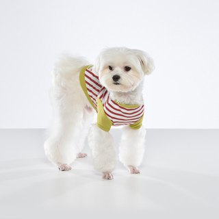 Stitching striped pet clothes