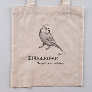 Pure hand-painted bird cotton shopping bag ‧ tiger skin