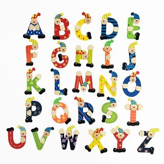 Children's Wall Art - Wooden Clown Letters