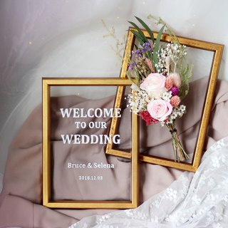 Wedding Welcome Table Flower Frame Set-F01