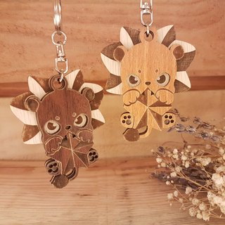 "Taiwan stack ""my zodiac! My life! ""[Customization] Wood carving constellation - Leo gift / key ring"