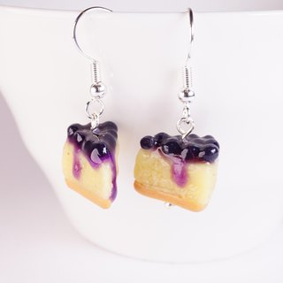 *Playful Design* Blueberry Cheese Cake Earrings