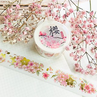 [Golden Age] Cherry Blossom Gold Paper Tape (including bottom paper)