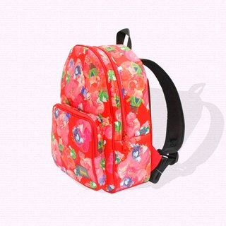 Air backpack for kids - water repellence / red (gooster)