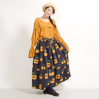 House corduroy print skirt