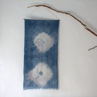 Free to stain isvara white cotton candy blue dye cotton scarf spring come!