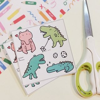 Diy paper clip from four small dinosaur (2 in)