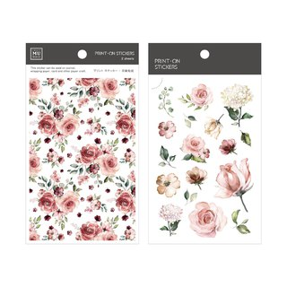 [Print-On Stickers] | Flower Series 38 - Chunyang Rose | Pocket, DIY Friends