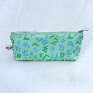 Letter Series Stationery Bag_Taiwan Phonetic Style_Green