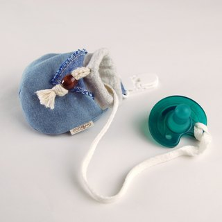 Rate denim baby pacifier beam bag