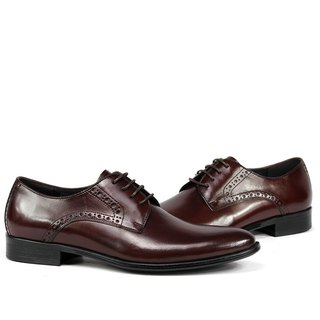 Sixlips V-Front 3/4 carved derby shoes coffee