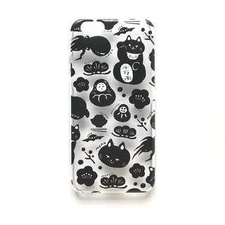 Dummy cat · Dharma · octopus · UFO clear case for iPhone
