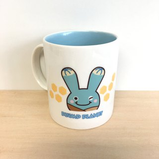 【Plump Planet Friends】Ceramic cup | Mola Ring Twin Little Blue