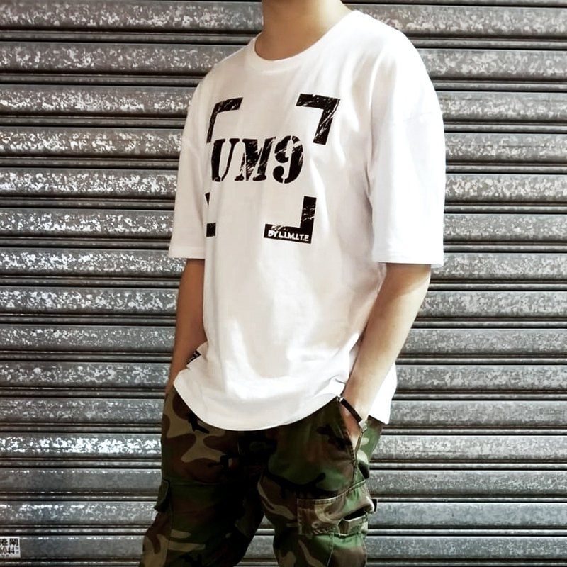 L.I.M.I.T.E - 男裝Oversize 印花 T恤,白色