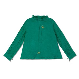 Chavi Girl' Pine Green Shirt