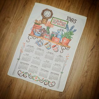 1984 American early cloth calendar bird