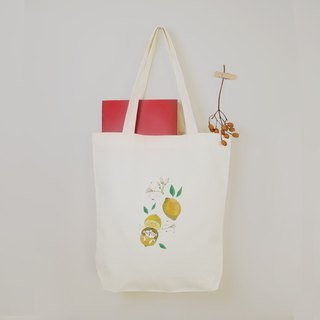 [Flower Fairy] Lemon Flower Girl Canvas Bag