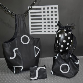 Black and white geometric oblique back / handbag