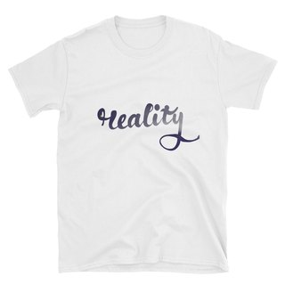 "Short Sleeve T-Shirt - Calligraph ""Reality"" - Night Sky"