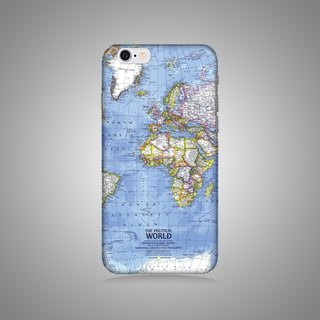 Empty shell series - map original mobile phone case / protective cover (hard shell)
