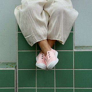 Spanish nationals canvas shoes CIENTA shoes jacquard pale pink scented shoes 70998 41