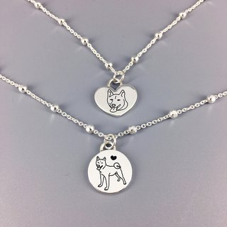 Silver Bracelet - Custom Pet Memorial Tag Pet memorial / 925 Sterling Silver Bracelets