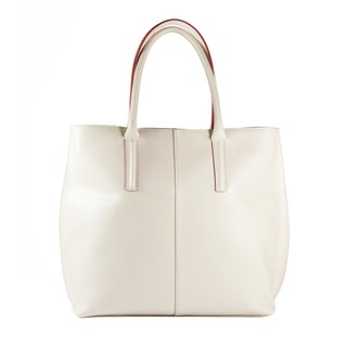 ITA BOTTEGA [Made in Italy] leather beige white shoulder bag