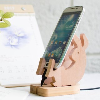 [customized gift] rabbit / iPhone Android charging mobile phone holder home furnishings necessary