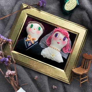 Rabbit original hand-made couple head wedding photo frame decoration custom
